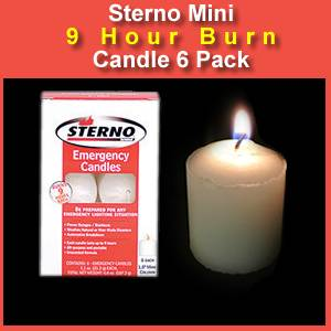 Sterno Mini Column Long Burning Candle 6 Pack (SM310212)