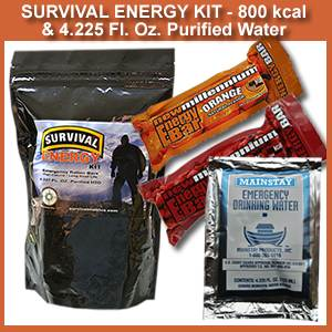 800 KCAL Survival Energy Kit with Water (800kcalenrgykit)