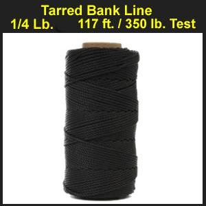 Tarred Bank Line - 1/4 lb., #36 Mariner, 117 ft., 350 lb. Test. (tarredbankline)