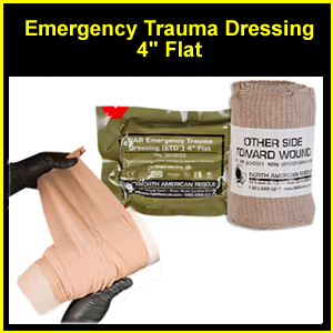 Emergency Trauma Dressing, 4 inch, FLAT (SM30-0093)