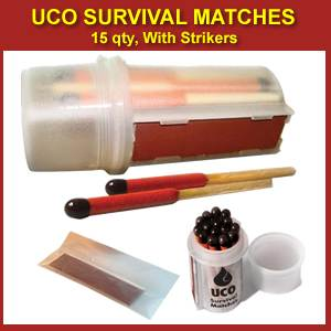 UCO Survival Matches - 15 qty  (ucosurvivalmatches)