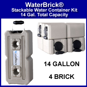 WaterBrick® 14 Gallon Emergency Water Storage System (SM11845)