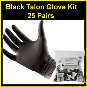 Black Talon Tactical Glove Kit (25 qty) (zz0215-18)