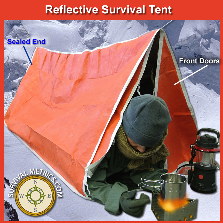 Reflective Survival Tent - Two Person (SM117)  sc 1 st  Survival Metrics : tent tube - memphite.com