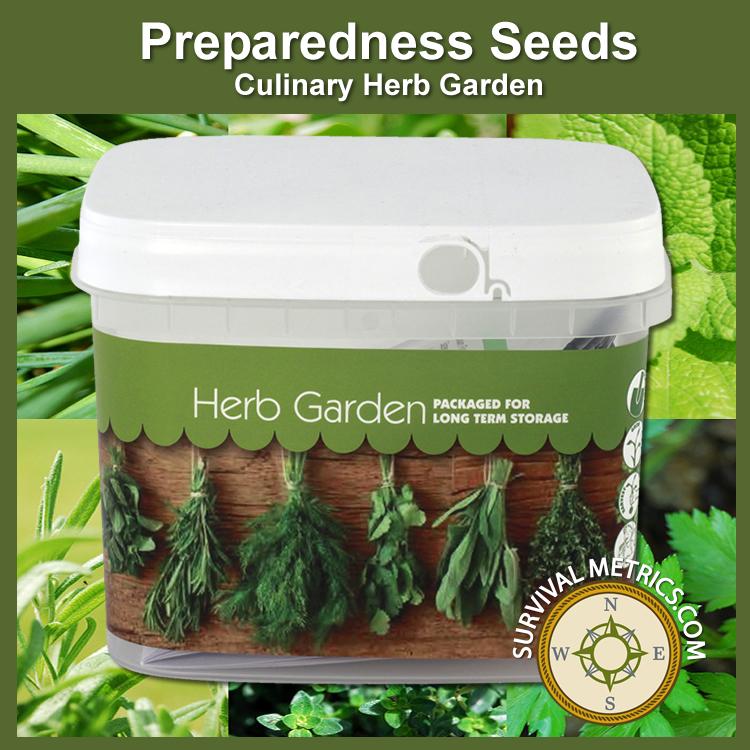 Herb Garden Bucket Of Preparedness Seeds Non Gmo Pshg