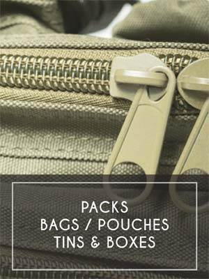 (13) Packs / Bags / Pouches / Tins & Boxes