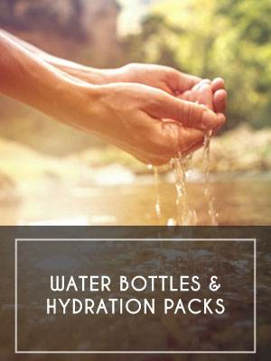 Water Bottles and Hydration Packs