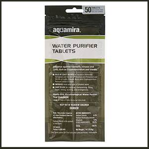 Aquamira Water Purification Tablets - 50 Pack - Tactical (SM67406)