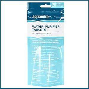 Aquamira Water Purification Tablets - 20 Pack (SM67407)