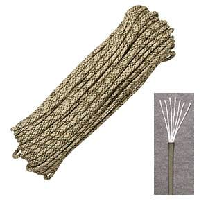 Marbles Outdoors Genuine 550 Parachute Cord 7-Strand - 100 ft- Desert (SM RG1050H)