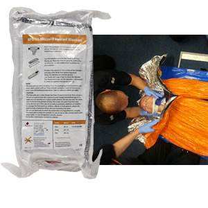 Blizzard Survival Blanket with Heat Pads - Orange (BPS-16-O)