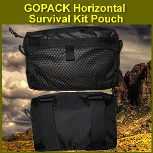 GOPACK Horizontal Survival Kit Pouch (horizontal)