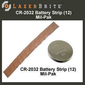 LazerBrite® Tactical Light System CR-2032 Battery 12 Pack (LB2-2032-12)