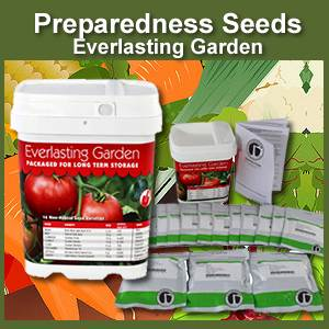 Everlasting Garden Bucket of Preparedness Seeds Non-GMO (PSEG)
