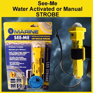 See Me Rescue Strobe - Water or Manual Activation (85-4075A-CRD)