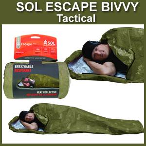 SOL Escape Bivvy TACTICAL Breathable Survival Sleeping Bag (SM0140-0229)