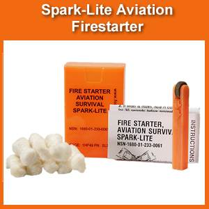 Spark-Lite Aviation Firestarter & Tinder Quick - ORANGE (SM-SL-3-HO)