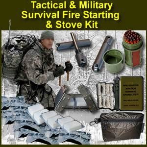 Tactical Amp Military Fire Starting Amp Stove Kit