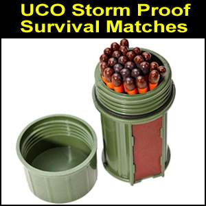 UCO Stormproof Matches Kit - Green (SM350464)