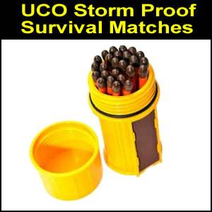 UCO Stormproof Matches Kit - Yellow (SM350463)
