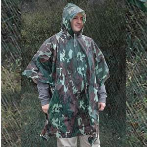 All-Weather Emergency Poncho - Adult - Camo (SM-20-RNW0018-34)