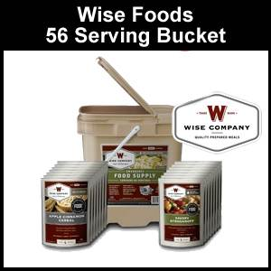 Wise Foods 56 Serving Grab and Go Bucket (FS56)