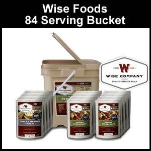 Wise Foods 84 Serving Grab and Go Bucket (FS84)
