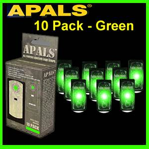 APALS® 10 Pack  - Green - Survival Signals (APALS10-GRN)