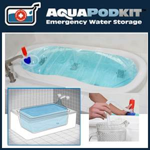 AquaPodKit® Plus One Emergency Water Reservoir & Pump for Bathtubs (aquapodkitplusone)