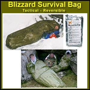Blizzard Survival Sleeping Bag (Bivvy) - Tactical / Reversible (BPS-02)