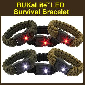 BUKaLITE Survival Bracelet with LED Light (19RBUK)