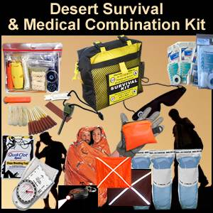 Desert Survival and Medical Combination Kit (desertkit)