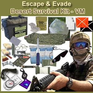 Escape & Evade® Desert Military Survival Kit - VM (EEDMSK-VM)