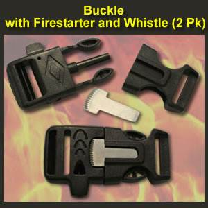 Fire Starter Buckle & Whistle (FSBW)