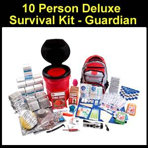 10 Person Deluxe Survival Kit - Guardian (OKTP)