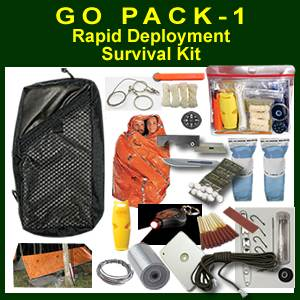 GoPack-1 Rapid Deployment Survival Kit (GOPACK-1)