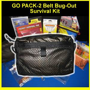 GoPack-2 Belt Bug-Out Survival & Medical Kit (GOPACK-2)