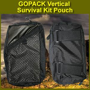 GOPACK Vertical Survival Kit Pouch (vertical)