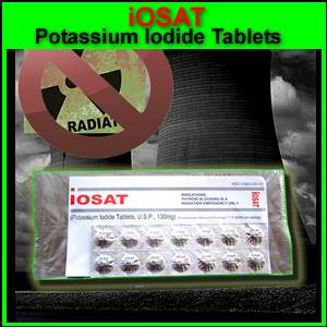 IOSAT Potassium Iodide Radiation Emergency Pills (NDC51803-001-01)