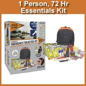 Lifeline 1 Person 72 Hour Essentials Emergency Kit (4046)