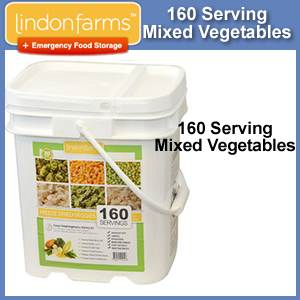 Lindon Farms™ 160 Serving Emergency Freeze Dried Vegetables Bucket (SM1254)