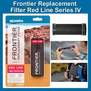Aquamira Frontier Replacement Filter Red Line Series IV (SM67019)