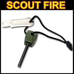 Military Scout Fire Flint Steel & Striker (SM21315)