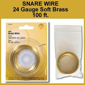 Snare Wire, Soft Brass, 24 Gauge, 100 ft. Pack (SM123126)