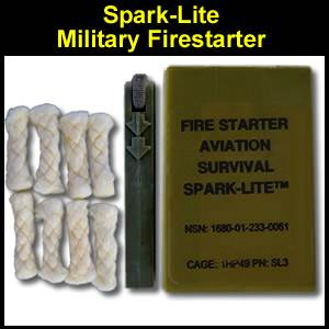 Spark-Lite Military Edition Fire Starter and Tinder Quik (SL3OD)