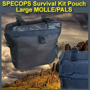 SpecOps Survival Kit Pouch with MOLLE (specopspouch)