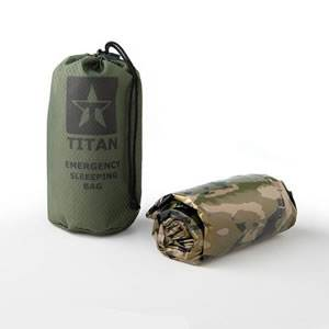 Survival Sleeping Bag - Woodland Shrowd Camo - Tactical (SM-SHROWDBAG)