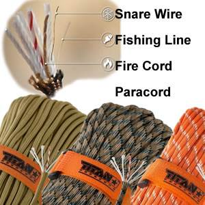 Titan SurvivorCord - 100 Ft - Para/Fish/Snare/Fire (Survivorcord)