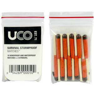 UCO Zip-Pouch Survival Matches - 10 Qty (MT-SV-BULK)