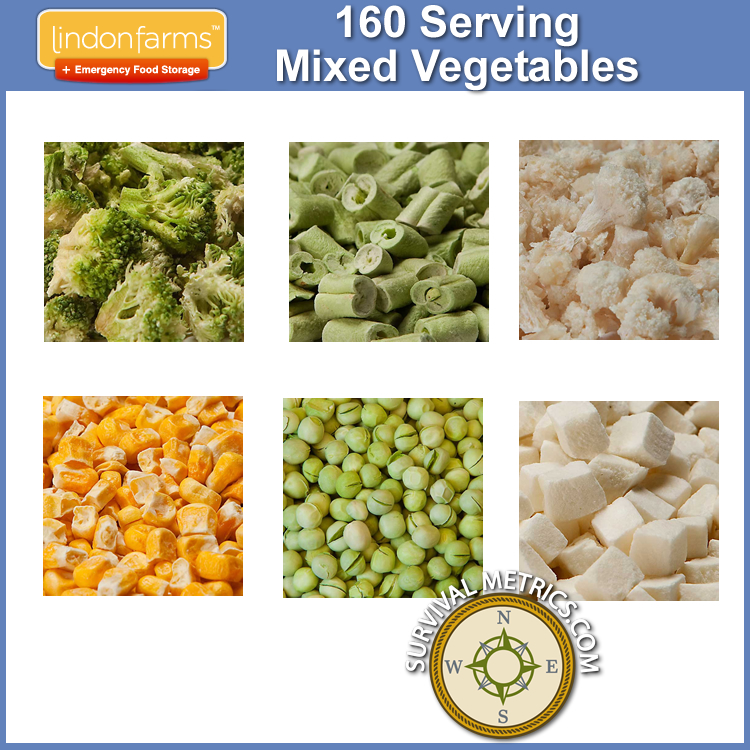 Lindon Farms™ 160 Serving Emergency Freeze Dried Vegetables